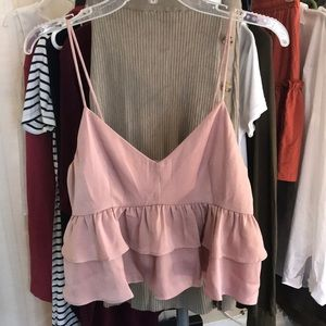 Satin cropped tank top from Dress Up